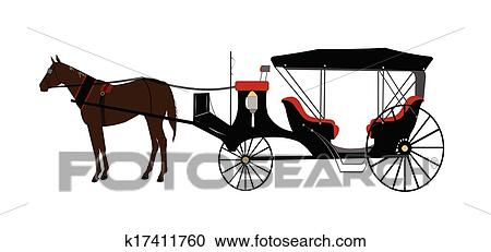 Cheval chariot tir clipart k17411760 fotosearch - Clipart cheval ...