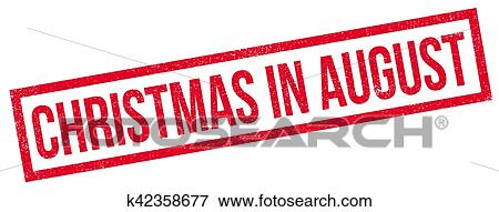 Christmas In August Clipart.Christmas In August Rubber Stamp Clip Art