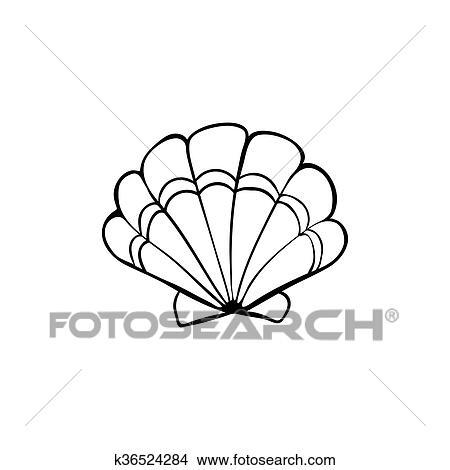 Sea Shell Icon Clipart K36524284