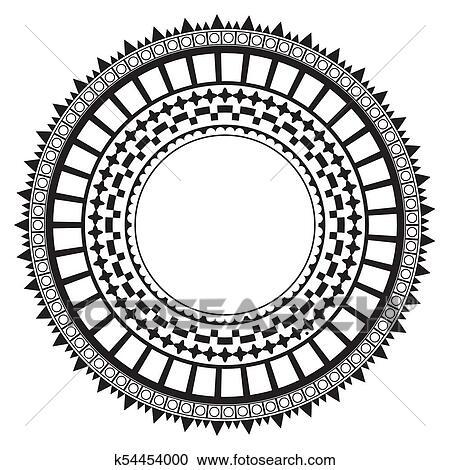 Colección de ilustraciones - tribal, gente, azteca, patrón ...