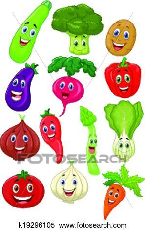 かわいい 野菜 漫画 特徴 クリップアート切り張りイラスト絵画