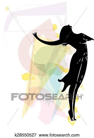 バレエダンサー イラスト クリップアート K28550527 Fotosearch