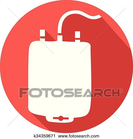 Clipart Of A Blood Donation Bag Flat Icon K34359671 Search Clip