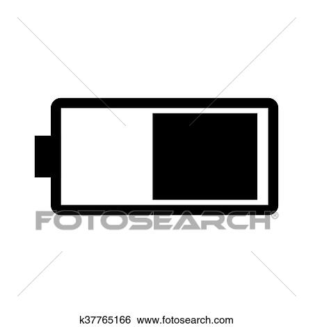 clip art of battery half full vector k37765166 search clipart rh fotosearch com battery clip art images battery clipart png