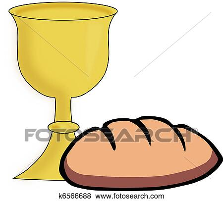 clip art of bread and chalice k6566688 search clipart rh fotosearch com clipart chalice with host chalice clipart free