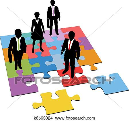 clipart of business people solution management resources puzzle rh fotosearch com clipart management gratuit clipart management team