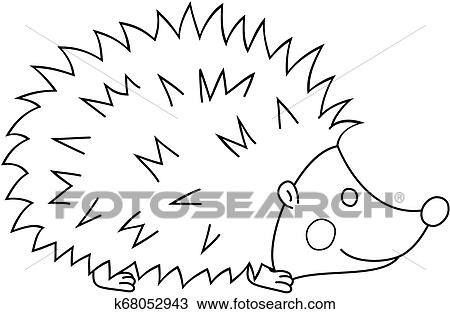 - Cartoon Hedgehog Coloring Book Page. Vector Outline Illustration. Clipart  K68052943 Fotosearch