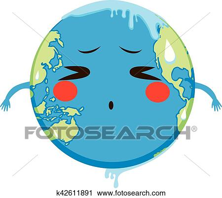 Global Warming Concept Map.Clipart Of Global Warming Concept Melting K42611891 Search Clip