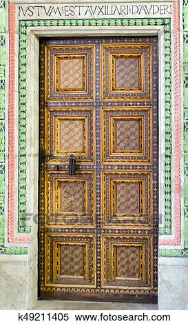 BARDEJO|V SLOVAKIA - MAY 13 Historic doors in Town hall in Unesco town Bardejov on May 13 2017 in Bardejov & Stock Image of Historic wooden doors k49211405 - Search Stock Photos ...