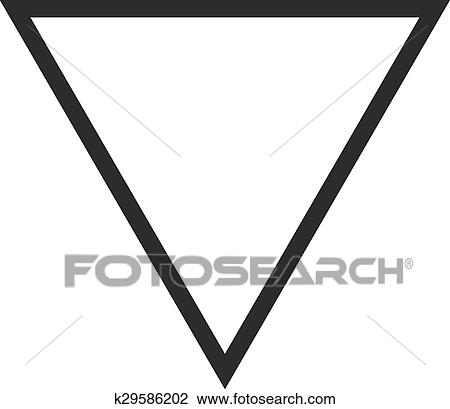 Clipart Of Inverted Triangle K29586202 Search Clip Art