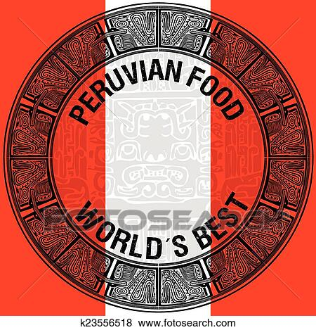 Peruvian food illustration Clip Art