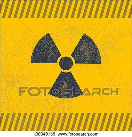 Clip Art Of Radioactive Vector Symbol K30349758 Search Clipart