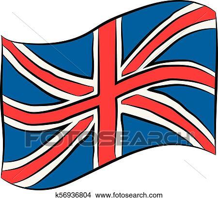 Bandera Reino Unido Dibujo A Lápiz Clipart K56936804 Fotosearch