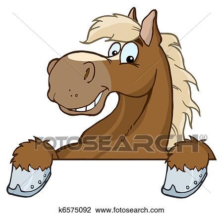 Clipart cheval mascotte dessin anim t te k6575092 recherchez des clip arts des - Clipart cheval ...