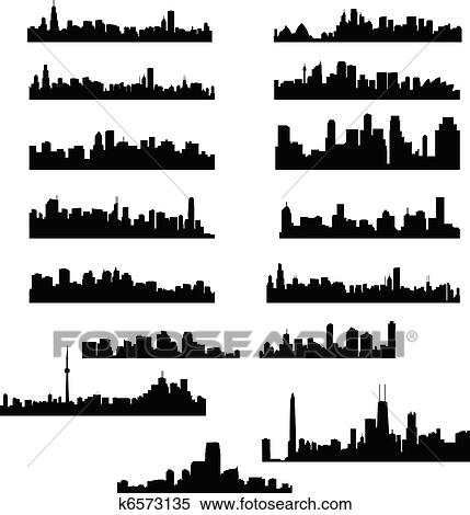 clipart of city skylines k6573135 search clip art illustration rh fotosearch com city skyline building clip art city skyline london clipart