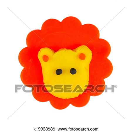 stock image of cute lion modelling clay k19938585 search stock