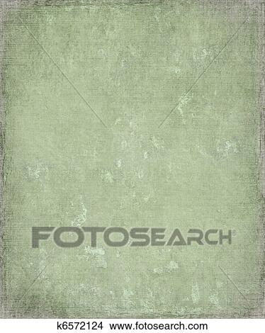 Stock Photo Of Faded Grunge Green Plaster Background With Frame