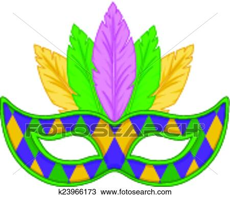 Clipart Fasching Maske K23966173 Suche Clip Art Illustration