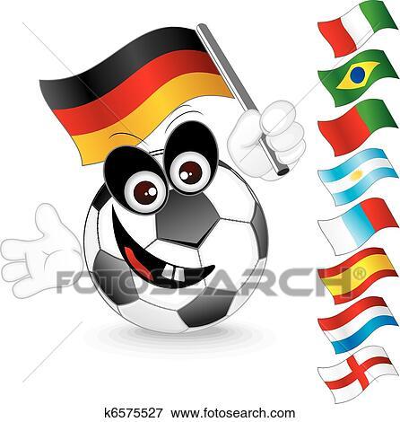 Fussball Ball Clip Art K6575527 Fotosearch