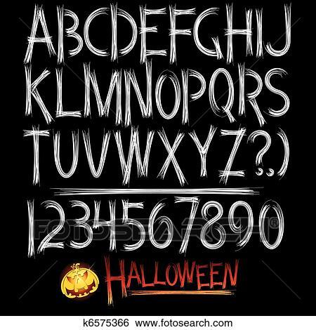 Halloween Font Clip Art