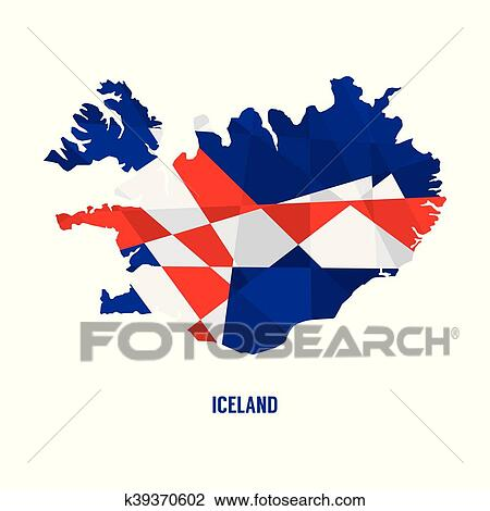 Map of Iceland Vector Illustration Clipart | k39370602 | Fotosearch