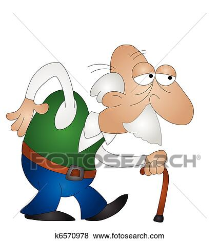 clip art of old man k6570978 search clipart illustration posters rh fotosearch com clipart of angry old man clipart of old man black and white