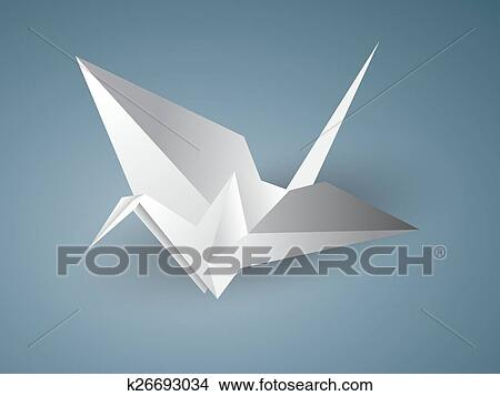 Clipart Of Origami Crane K26693034 Search Clip Art Illustration