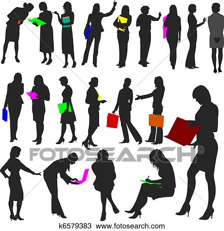 clipart of people women at work no 2 k6579383 search clip art