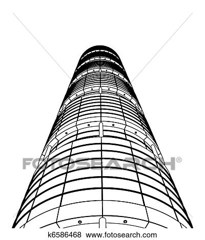 Clip Art Of Abstract Skyscraper Constructions K6586468