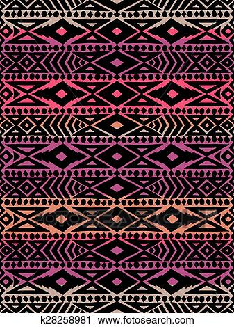 Clipart Of Aztec Tribal Mexican Seamless Pattern K40 Search Extraordinary Aztec Tribal Pattern