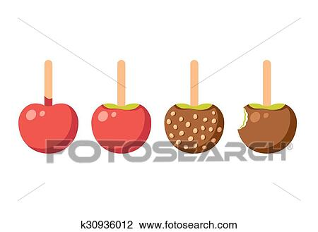 Caramel Apples Clipart K30936012 Fotosearch
