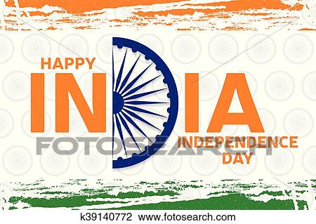 Clipart of indian independence day greeting card poster flyer indian independence day greeting card poster flyer patriotic banner for website template 15th august typographic design vector illustration m4hsunfo