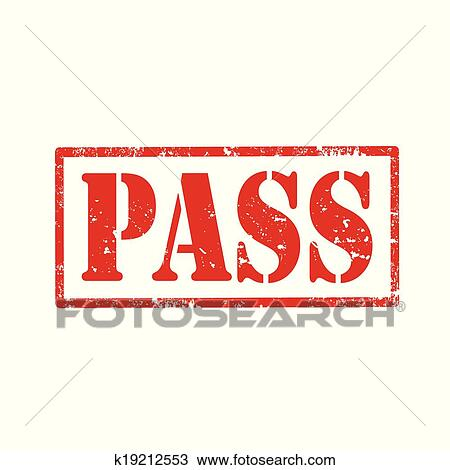 Clipart Of Pass Stamp K19212553 Search Clip Art Illustration