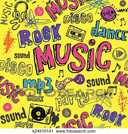 Clipart Of Seamless Yellow Music Background K24510141 Search Clip