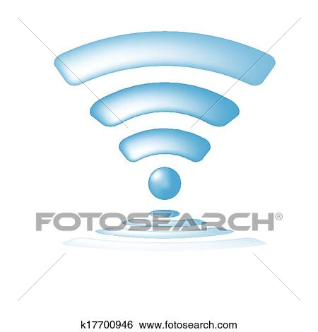 Clip Art Of Wireless Network Symbol Wifi Icon K17700946 Search