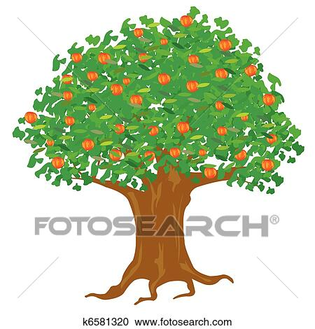 clipart of year apple tree k6581320 search clip art illustration rh fotosearch com clipart images of apple tree clip art apple tree leaf
