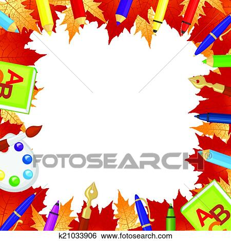 Clip Art Of Back To School Frame K21033906 Search Clipart