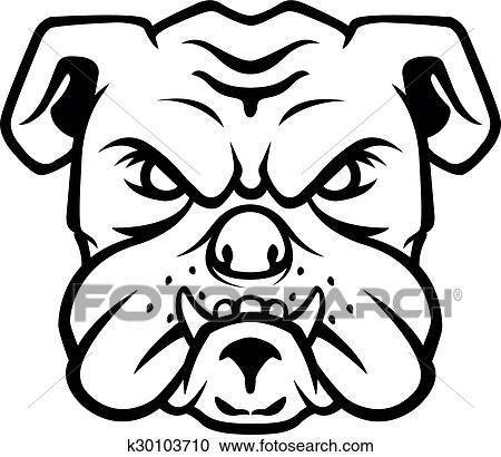 Bulldog Head Symbol Clipart K30103710 Fotosearch