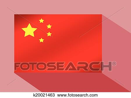 China Flag Clipart K20021463 Fotosearch