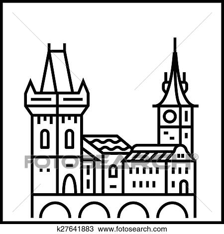 Clipart Of Cityscape Icon K27641883