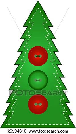 Clipart - Country Christmas Tree - Buttons. Fotosearch - Search Clip Art, Illustration Murals