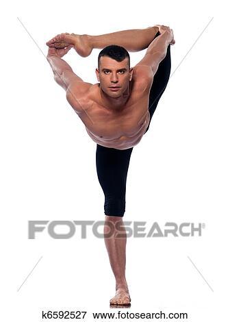 bild  mann joga asanas natarajasana tänzer haltung