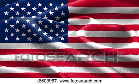アメリカ人 Flag イラスト K6608957 Fotosearch
