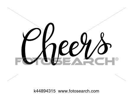 Clipart - aclamaciones, hand-drawn, letras, decoración, texto ...