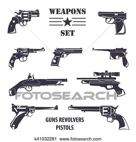 Arma De Fogo Set Armas Pistolas Revolvers Apartamento