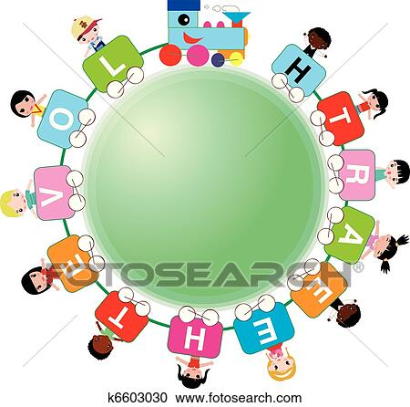 clipart of kids around the world k6603030 search clip art rh fotosearch com Holidays around the World Clip Art Travel around the World Clip Art