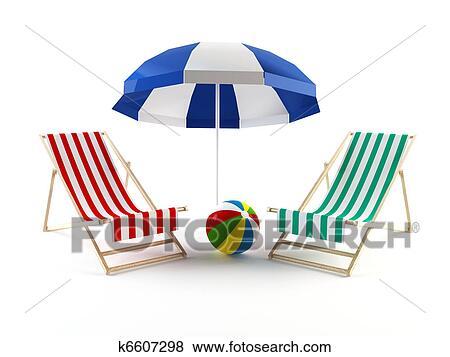 Colección de ilustraciones - sillas de playa 4c7cbfffdaf9