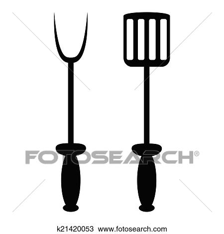 clipart of spade and fork for grill k21420053 search clip art rh fotosearch com clipart for kids clipart for kids