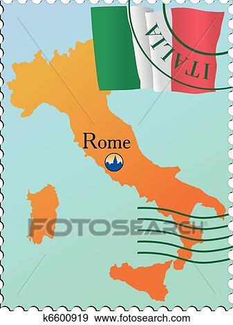 Clip Art Of Stamp Capital K6600919