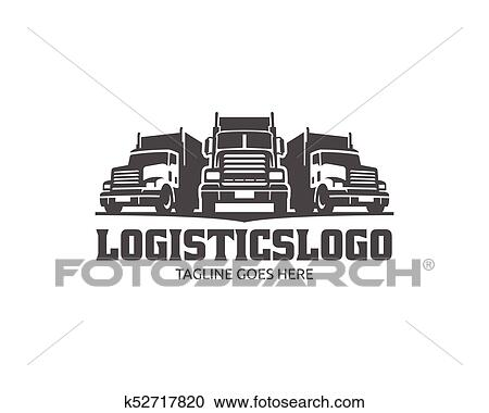 Truck Logo, cargo logo, delivery cargo trucks, Logistic ...